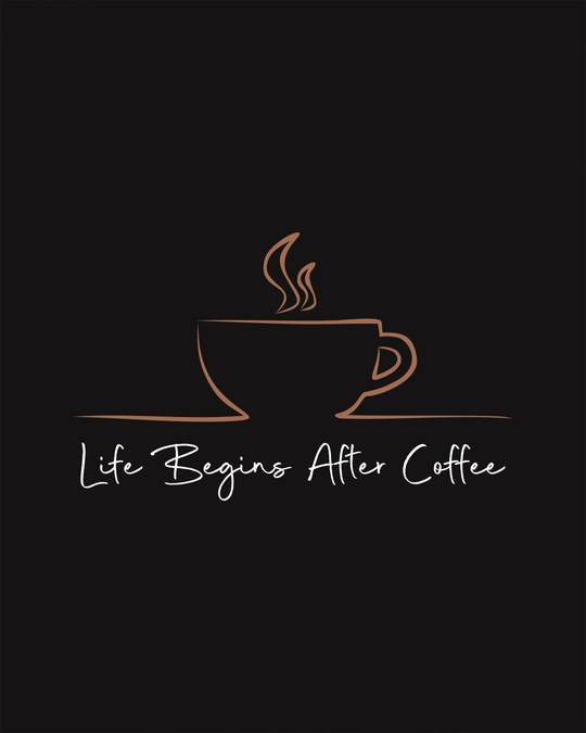 Shop Life Begins After Coffee Scoop Neck Full Sleeve T-Shirt