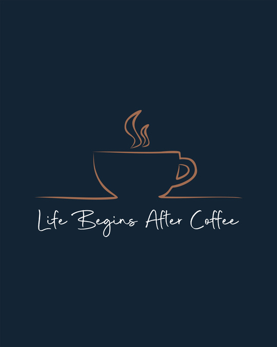 Shop Life Begins After Coffee Scoop Neck Full Sleeve T-Shirt-Full