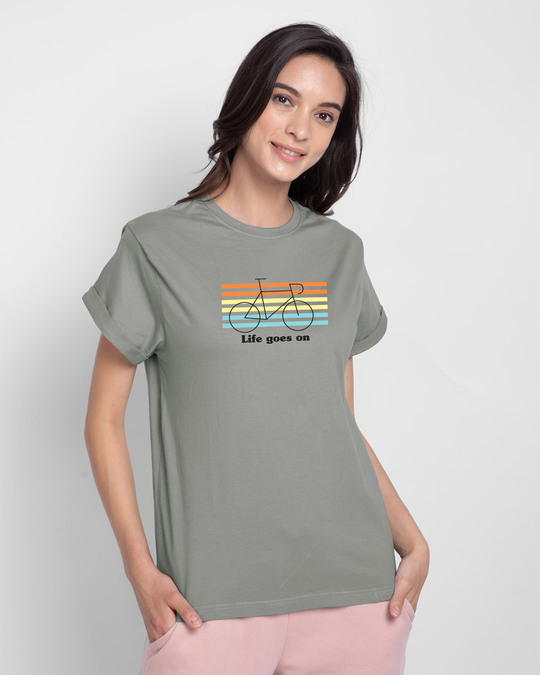 Shop Life Goes On Boyfriend T-Shirts-Front
