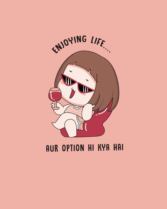Shop Life Option Boyfriend  T-Shirt Misty Pink-Full