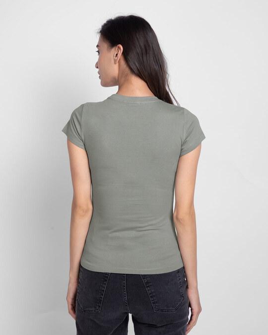 Shop Life Option Half Sleeve T-Shirt Meteor Grey-Back