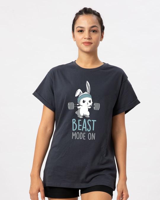 Shop Lift Like A Beast Boyfriend T-Shirt-Front