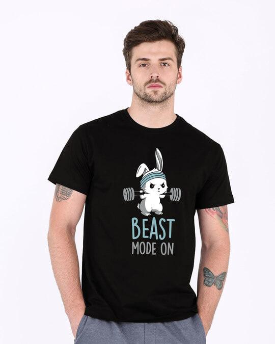 Shop Lift Like A Beast Half Sleeve T-Shirt-Back