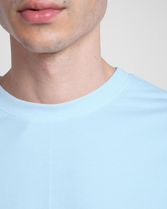 Shop Light Blue Melange Fleece Sweater