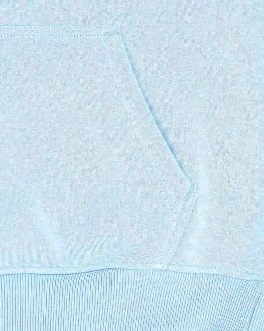 Shop Light Blue Melange Hoodie Sweatshirt
