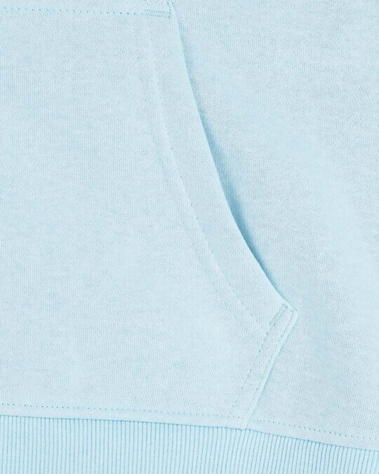 Shop Light Blue Melange Zipper Hoodie