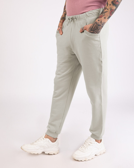Shop Light Grey Casual Jogger Pant-Back