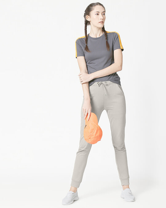 Shop Light Grey Casual Jogger Pants-Full