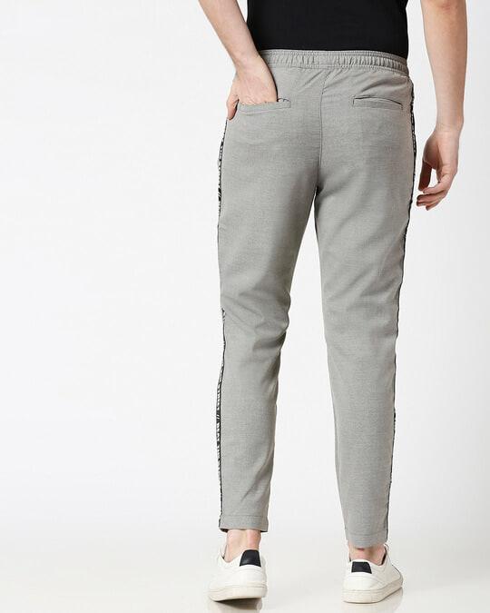 Shop Light Grey Men's Casual Pants-Full