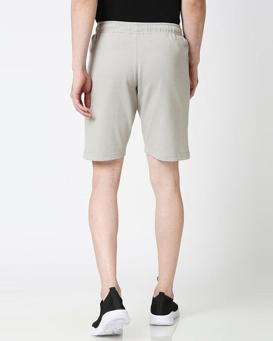 Shop Light Grey Men's Casual Shorts With Zipper-Design