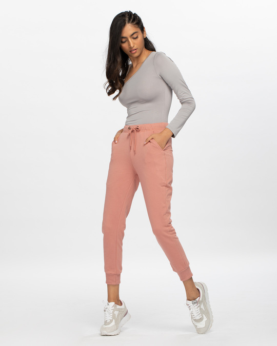 Shop Light Pink Casual Jogger Pant-Full