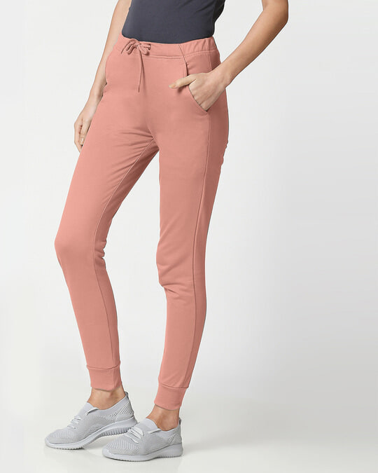 Shop Light Pink Casual Jogger Pants-Back