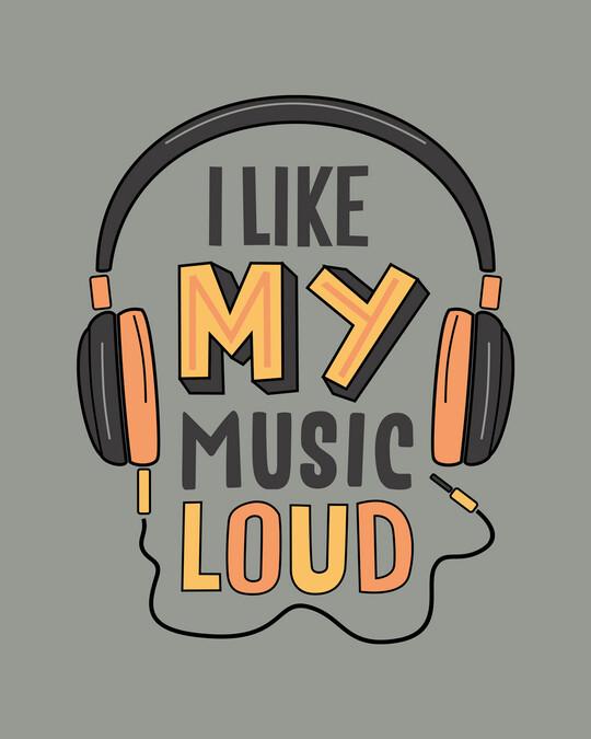 Shop Like My Music Loud Round Neck Vest Meteor Grey