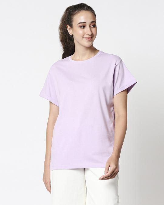 Shop Lilac Bloom Boyfriend T-Shirt-Back
