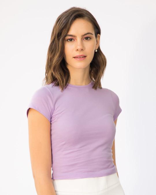 Shop Lilac Breeze Crop Top-Back