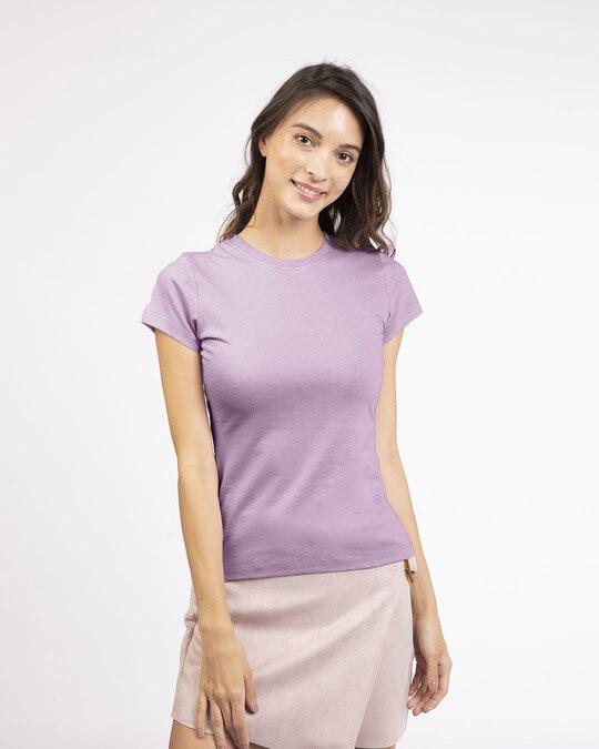 Shop Lilac Breeze Half Sleeve T-shirt-Front