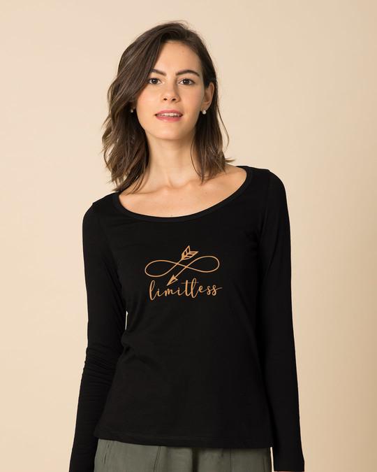 Shop Limitless Arrow Scoop Neck Full Sleeve T-Shirt-Front