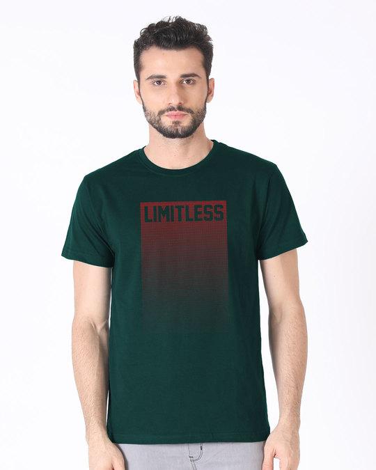 Shop Limitless Ombre Half Sleeve T-Shirt-Back