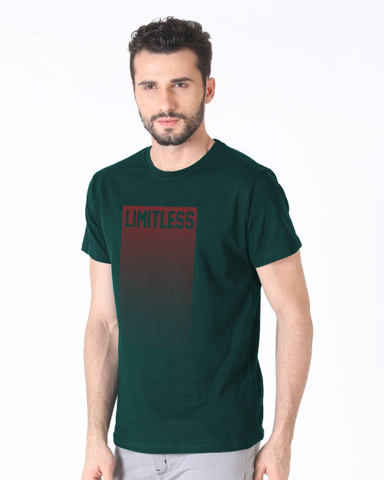 Shop Limitless Ombre Half Sleeve T-Shirt-Full
