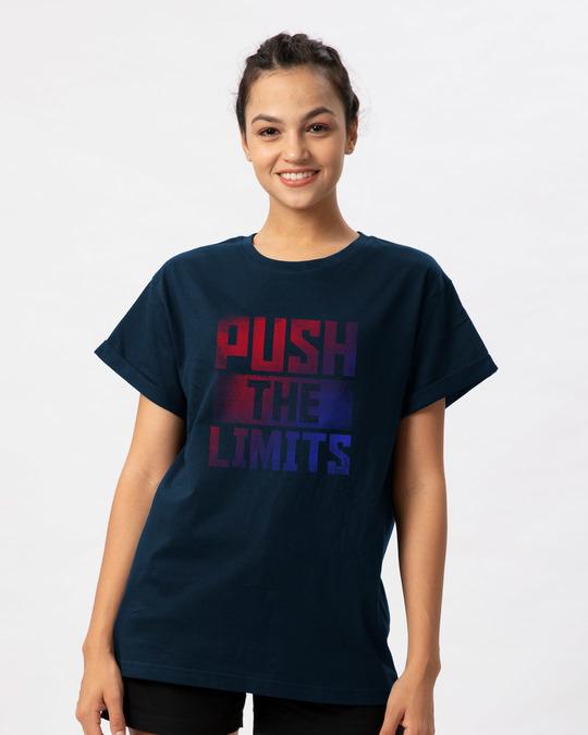 Shop Limits Are Pushed Boyfriend T-Shirt-Front