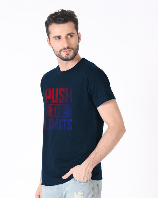 Shop Limits Are Pushed Half Sleeve T-Shirt-Full