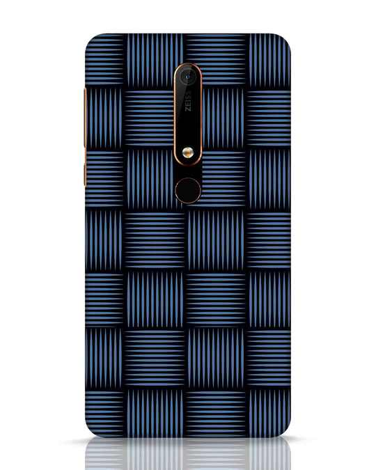 Shop Lines Pattern Nokia 6.1 Mobile Cover-Front