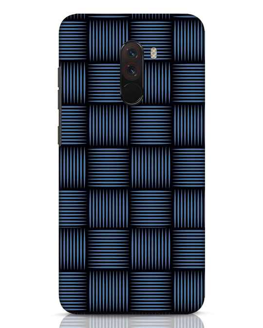 Shop Lines Pattern Xiaomi POCO F1 Mobile Cover-Front