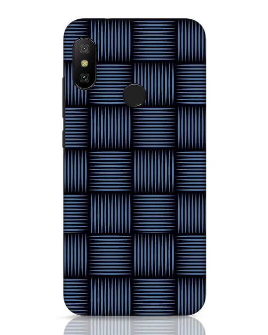 Shop Lines Pattern Xiaomi Redmi 6 Pro Mobile Cover-Front