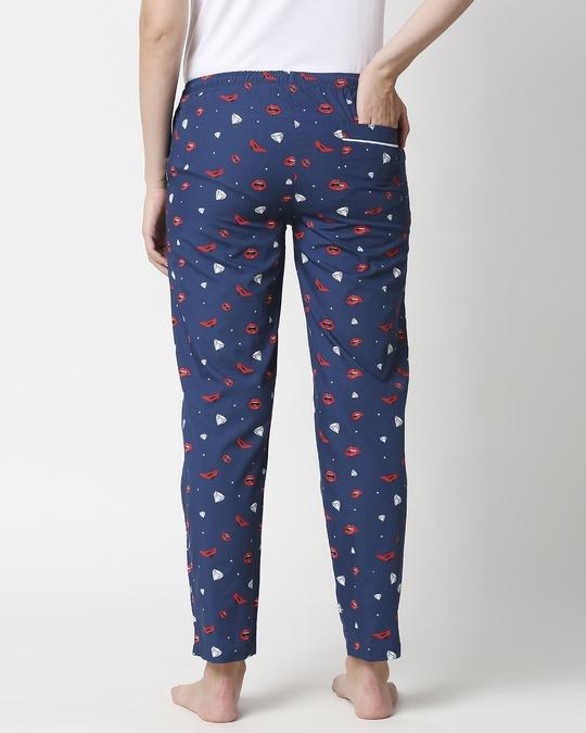 Shop Lipstick & Heels ! All Over Printed Pyjama-Full