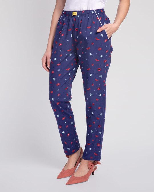 Shop Lipstick & Heels All Over Printed Pyjama-Back