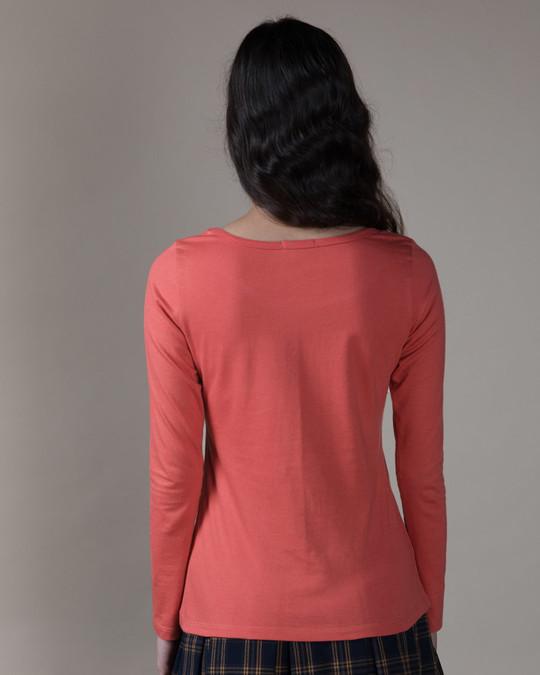 Shop Lit Cigarette Scoop Neck Full Sleeve T-Shirt-Back