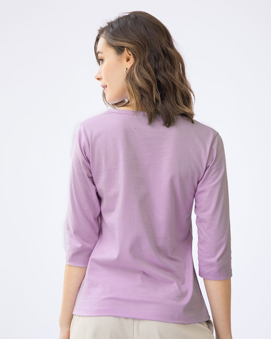 Shop Literally Don't Care Round Neck 3/4th Sleeve T-Shirt-Back
