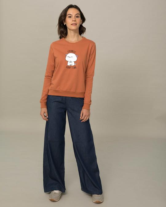Shop Literally Don't Care  Sweatshirt-Design