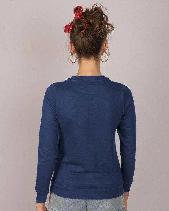 Shop Little Things Rose Fleece Light Sweatshirt-Back