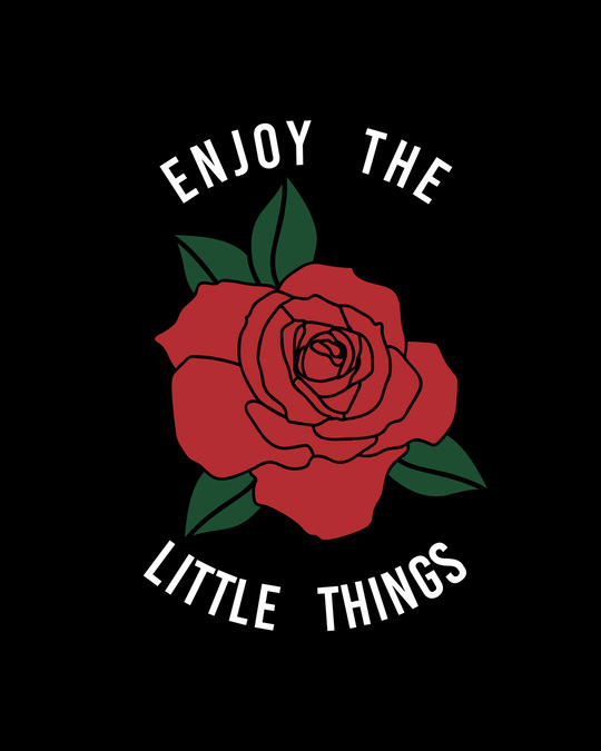 Shop Little Things Rose Round Neck 3/4th Sleeve T-Shirt-Full