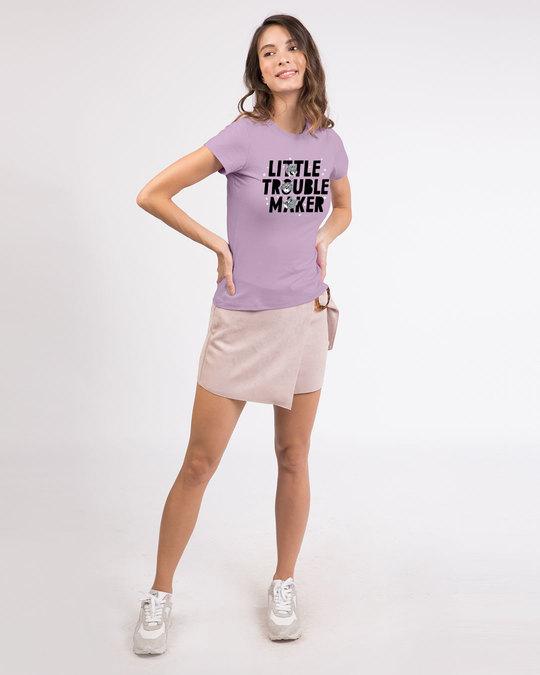 Shop Little Trouble Maker Half Sleeve T-Shirt (TJL)-Design