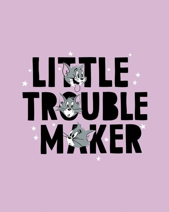 Shop Little Trouble Maker Half Sleeve T-Shirt (TJL)-Full