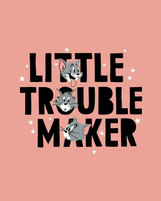 Shop Little Trouble Maker Round Neck 3/4th Sleeve T-Shirt (TJL)