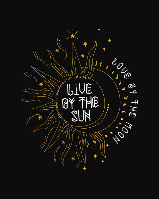 Shop Live By The Sun 3/4th Sleeve T-Shirt (GOLD PRINT)