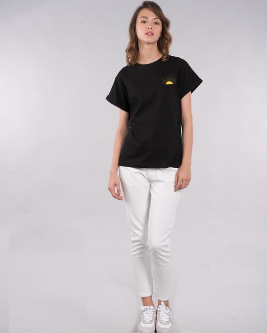 Shop Live By The Sun Boyfriend T-Shirt (GOLD PRINT)