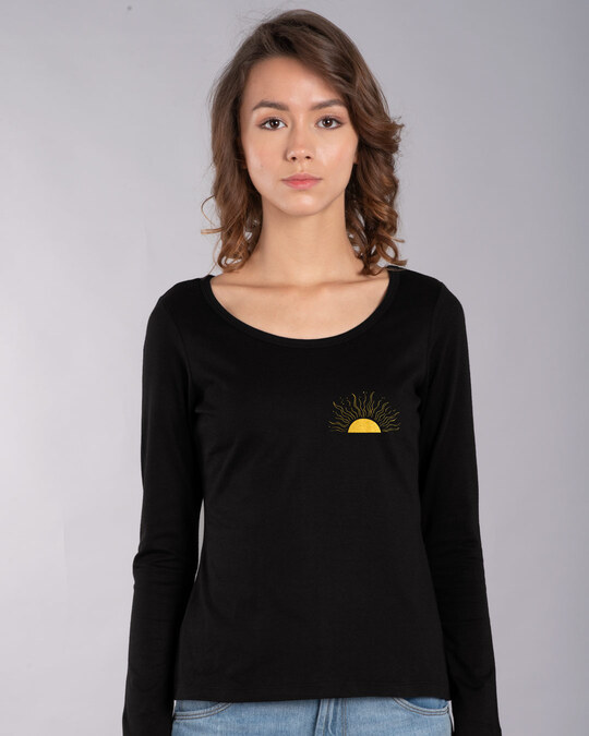 Shop Live By The Sun Scoop Neck T-Shirt (GOLD PRINT)-Back