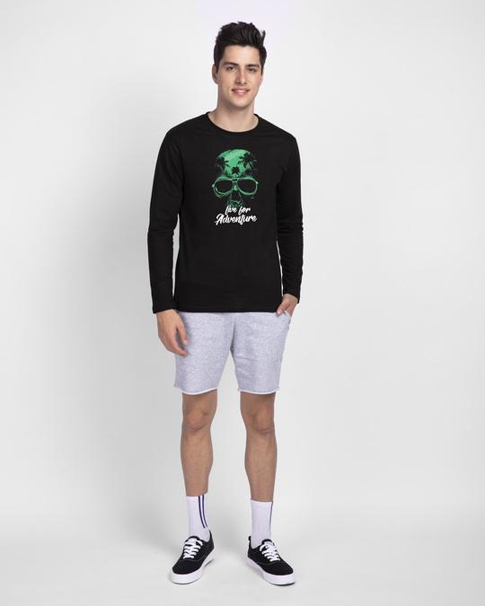 Shop Live For Adventure Skull Full Sleeve T-Shirt-Design