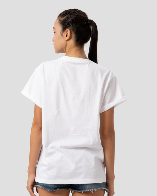 Shop Live Free Colorful Boyfriend T-Shirt-Back