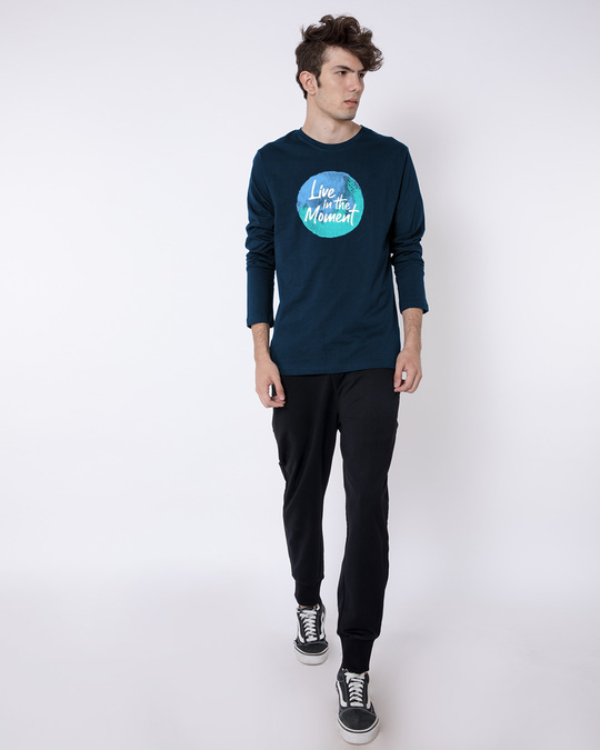 Shop Live In The Moment Full Sleeve T-Shirt