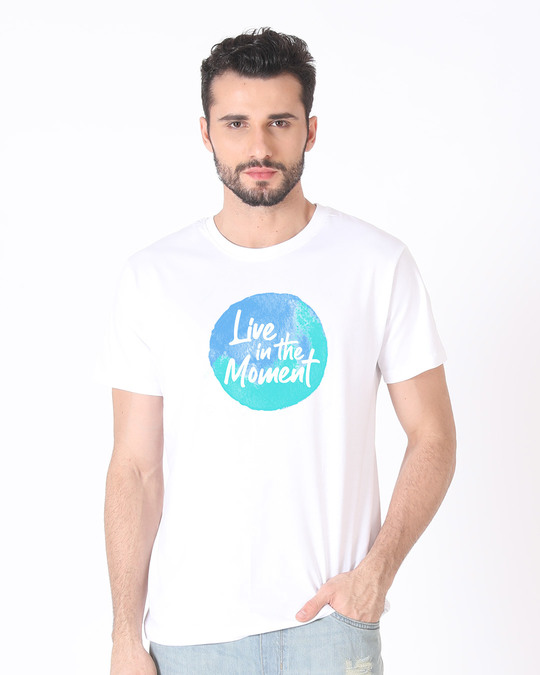 Shop Live In The Moment Half Sleeve T-Shirt-Back