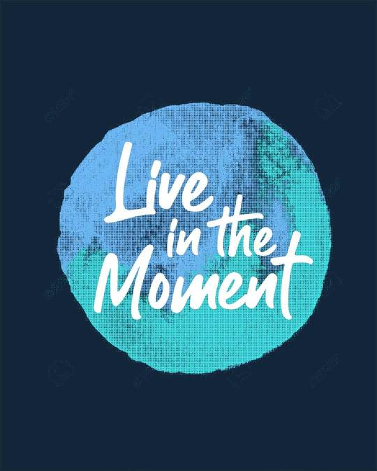 Shop Live In The Moment Round Neck 3/4th Sleeve T-Shirt