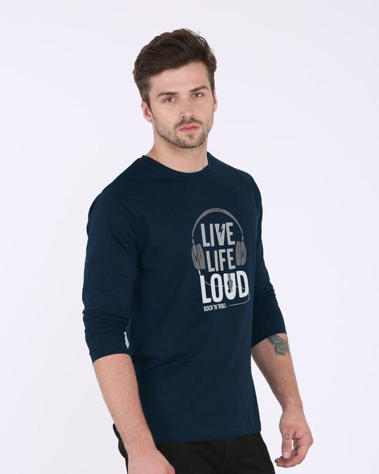 Shop Live Life Loud Full Sleeve T-Shirt-Back