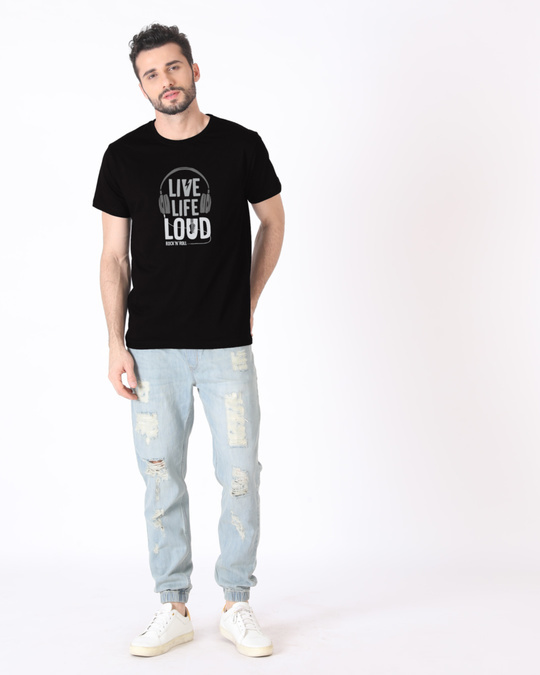 Shop Live Life Loud Half Sleeve T-Shirt