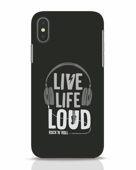Shop Live Life Loud iPhone X Mobile Cover-Front