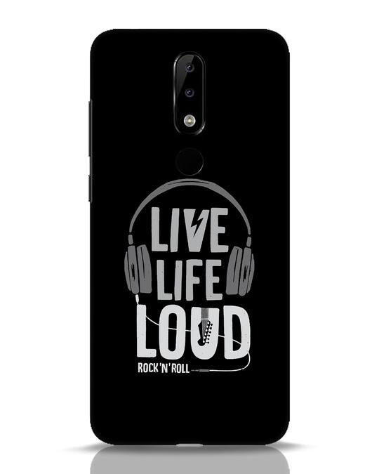 Shop Live Life Loud Nokia 5.1 Plus Mobile Cover-Front